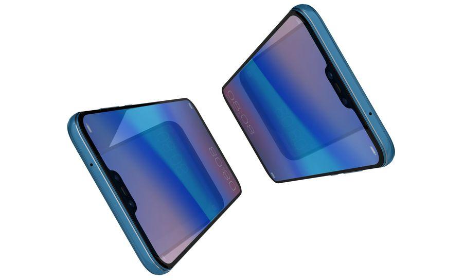 ファーウェイP20ライトクラインブルー royalty-free 3d model - Preview no. 10
