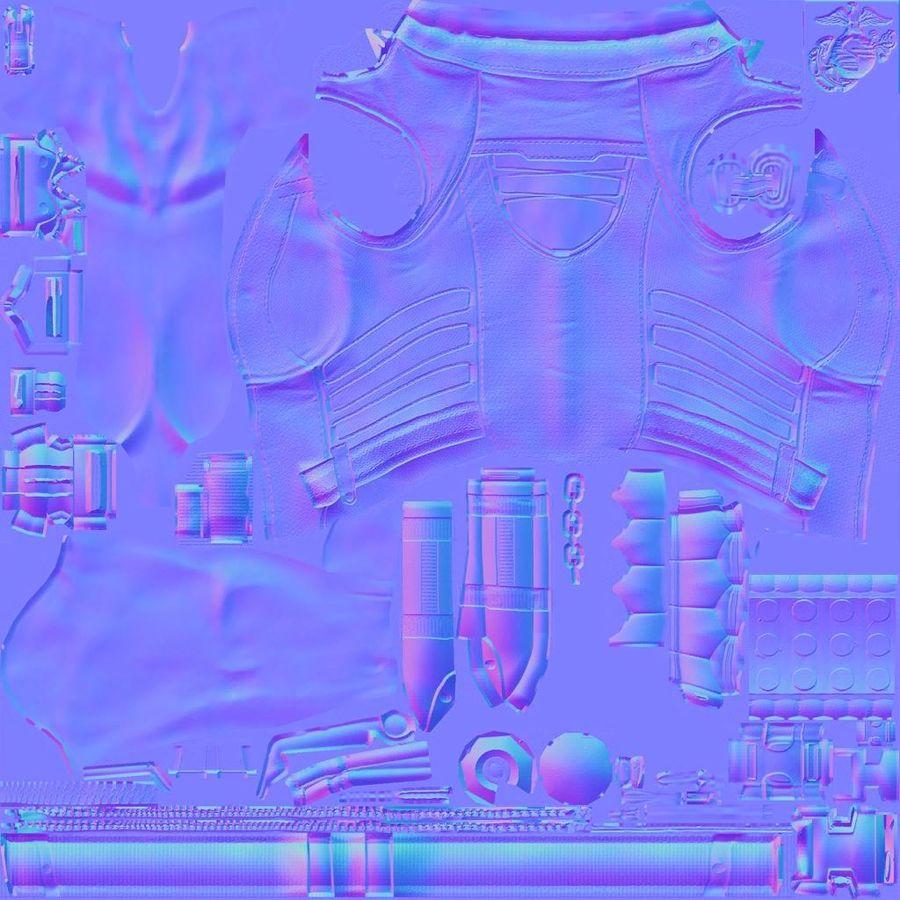 Fille guerrière 3D royalty-free 3d model - Preview no. 19