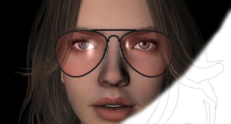 Fille guerrière 3D royalty-free 3d model - Preview no. 20