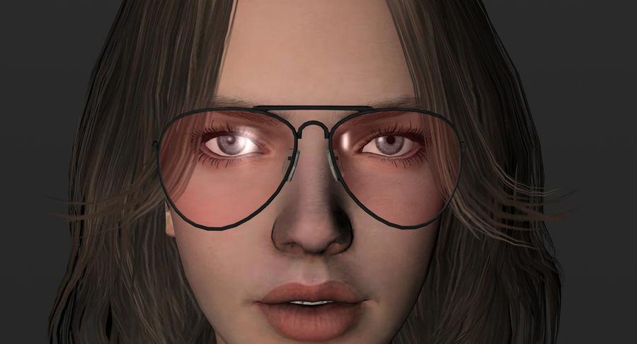 Fille guerrière 3D royalty-free 3d model - Preview no. 13