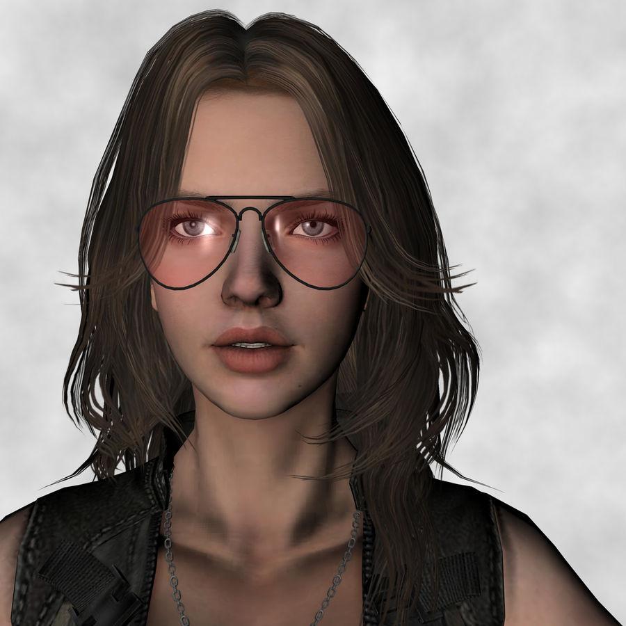 Fille guerrière 3D royalty-free 3d model - Preview no. 1
