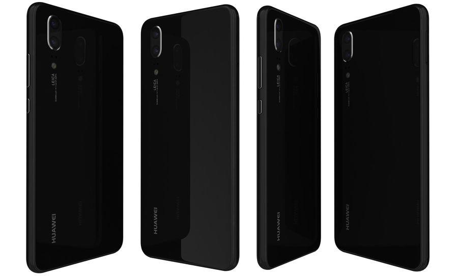 华为P20黑色 royalty-free 3d model - Preview no. 4