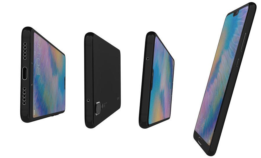 华为P20黑色 royalty-free 3d model - Preview no. 13