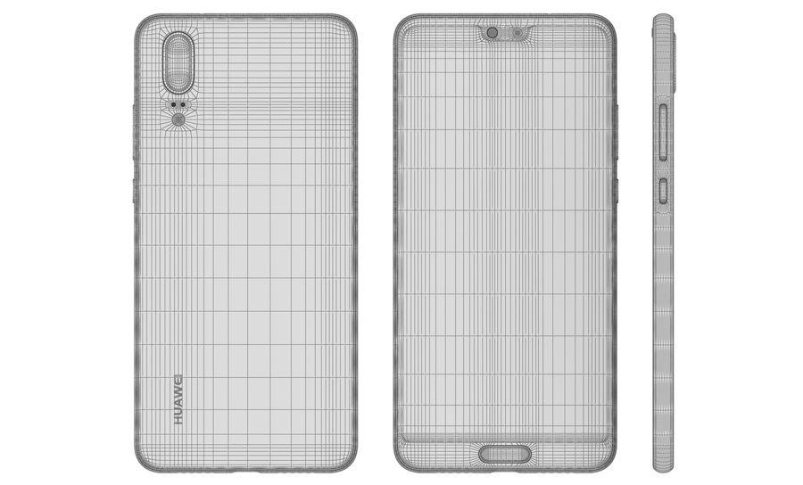 华为P20黑色 royalty-free 3d model - Preview no. 17