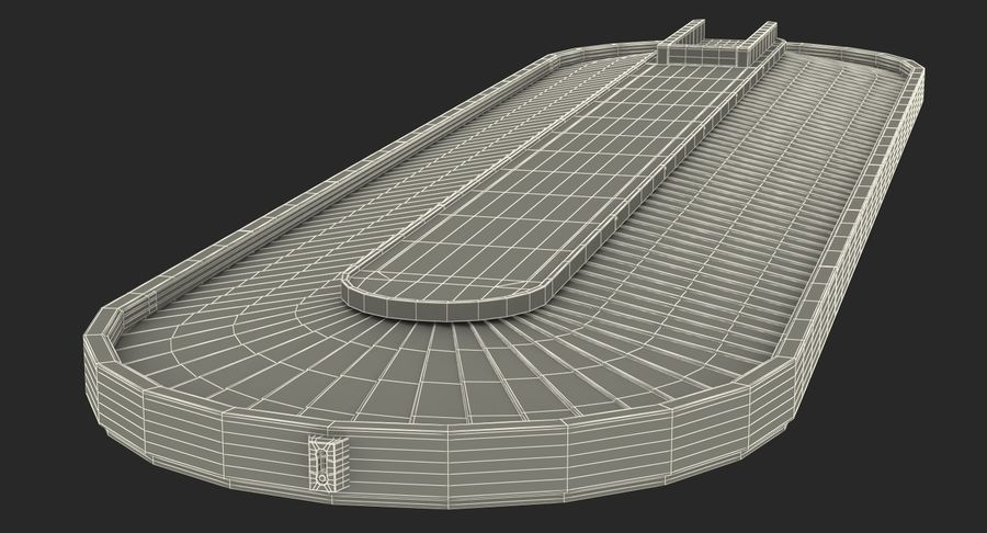 Bagage transportband systeem royalty-free 3d model - Preview no. 17