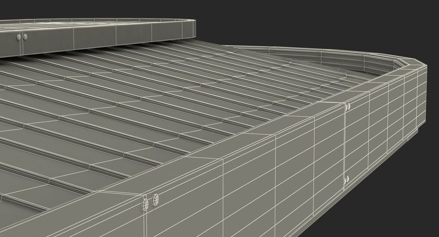 Bagage transportband systeem royalty-free 3d model - Preview no. 19
