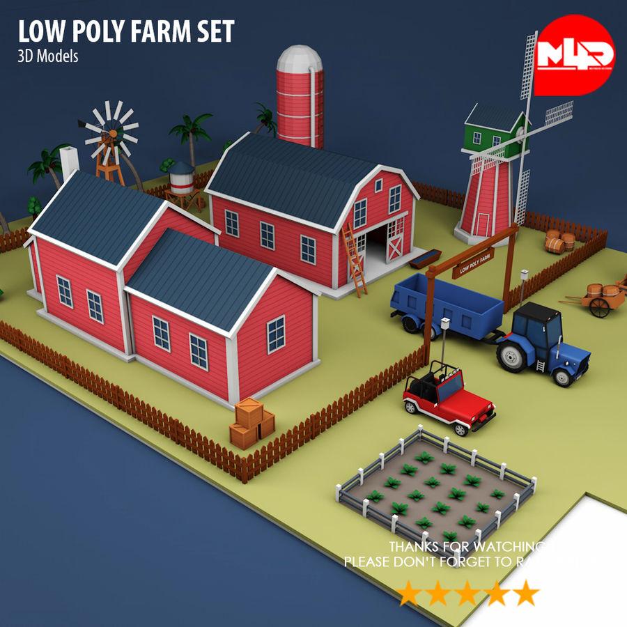 Conjunto de Fazenda Low Poly royalty-free 3d model - Preview no. 11