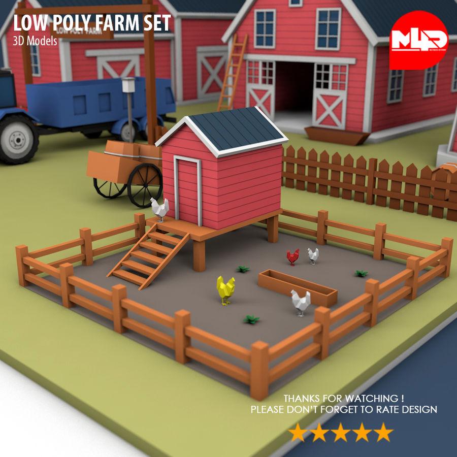 Conjunto de Fazenda Low Poly royalty-free 3d model - Preview no. 9