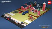 Zestaw Low Poly Farm 3d model