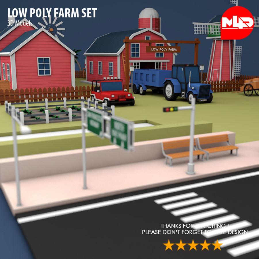 Conjunto de Fazenda Low Poly royalty-free 3d model - Preview no. 8