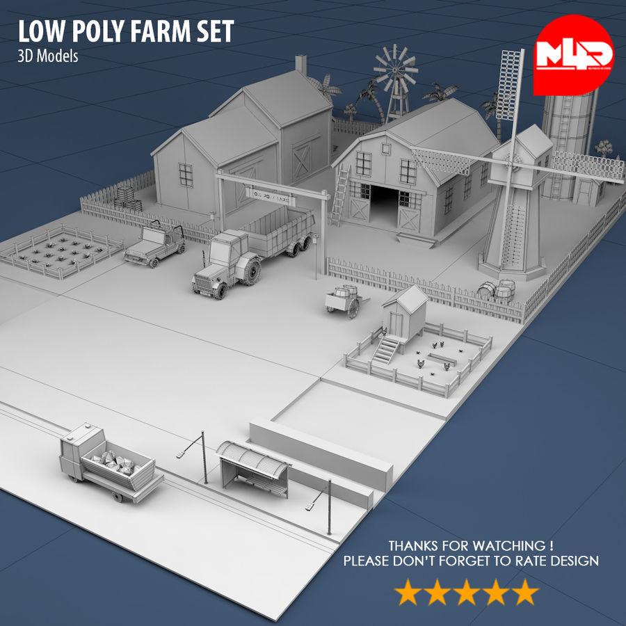 Conjunto de Fazenda Low Poly royalty-free 3d model - Preview no. 3