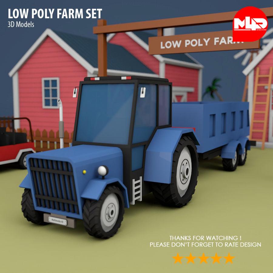 Conjunto de Fazenda Low Poly royalty-free 3d model - Preview no. 10