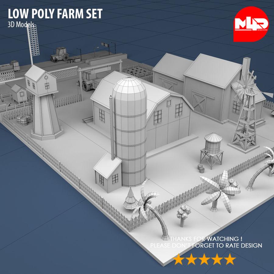 Conjunto de Fazenda Low Poly royalty-free 3d model - Preview no. 7