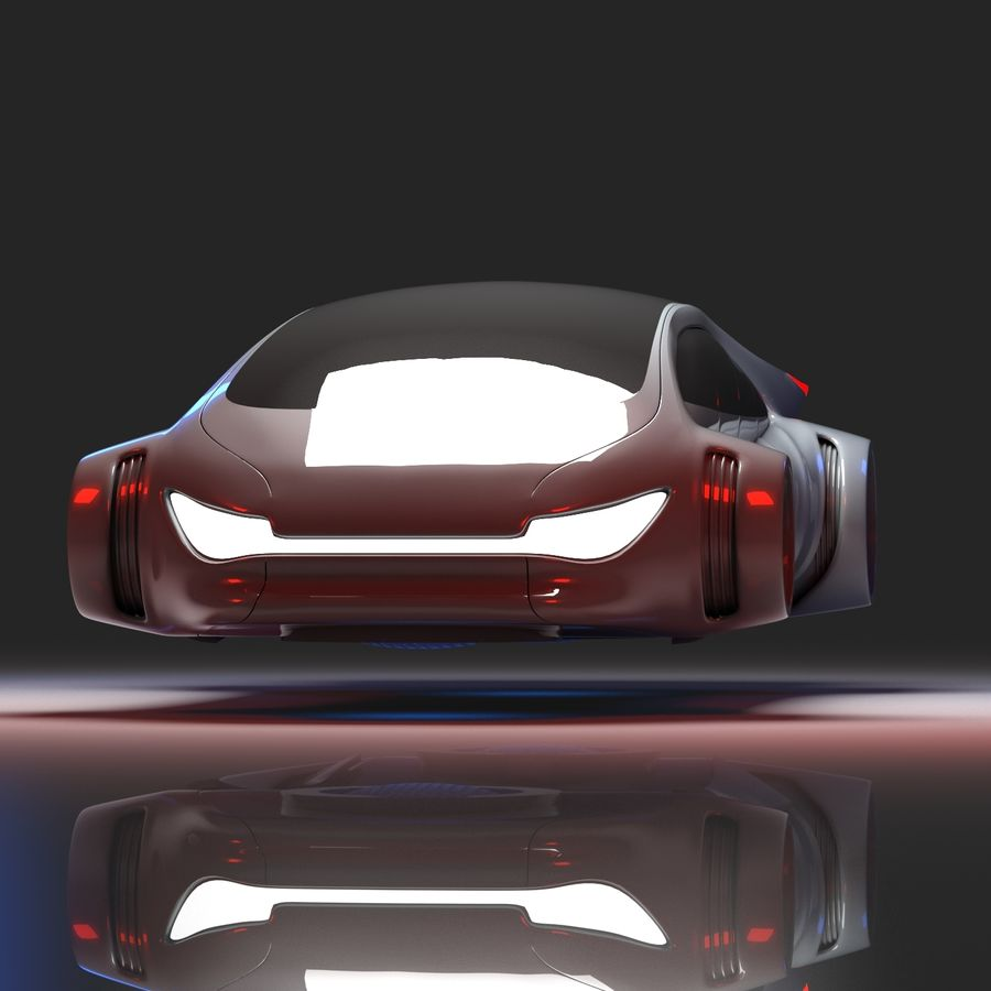 Futuristisk bil 7 royalty-free 3d model - Preview no. 1