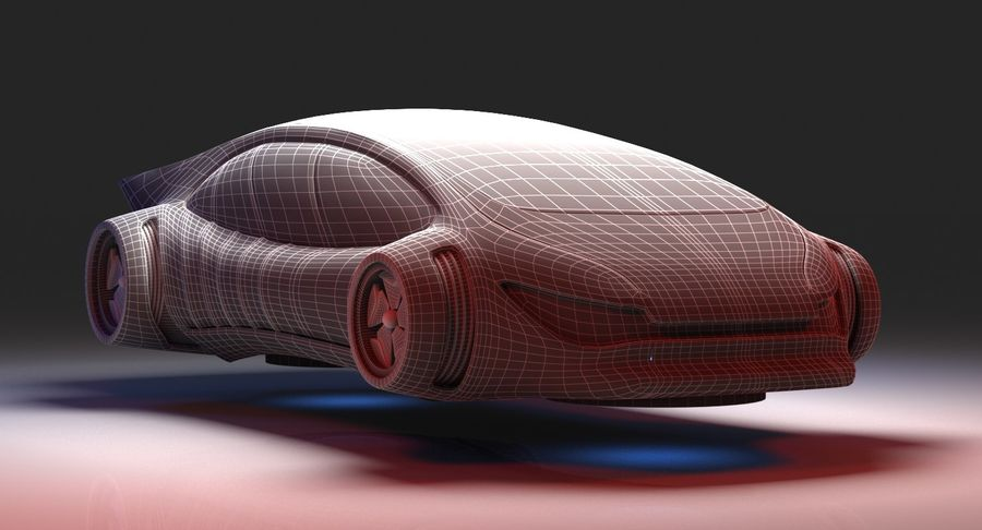 Futuristisches Auto 7 royalty-free 3d model - Preview no. 9