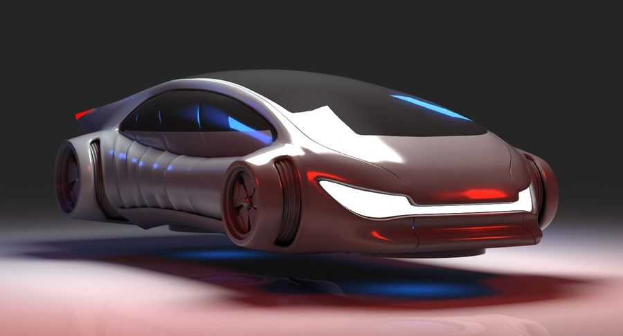 Futuristisches Auto 7 royalty-free 3d model - Preview no. 3