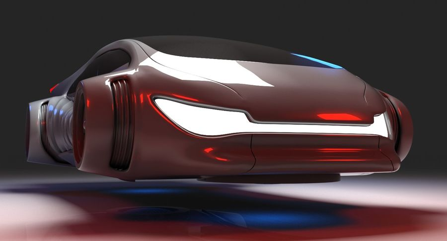 Futuristisches Auto 7 royalty-free 3d model - Preview no. 8