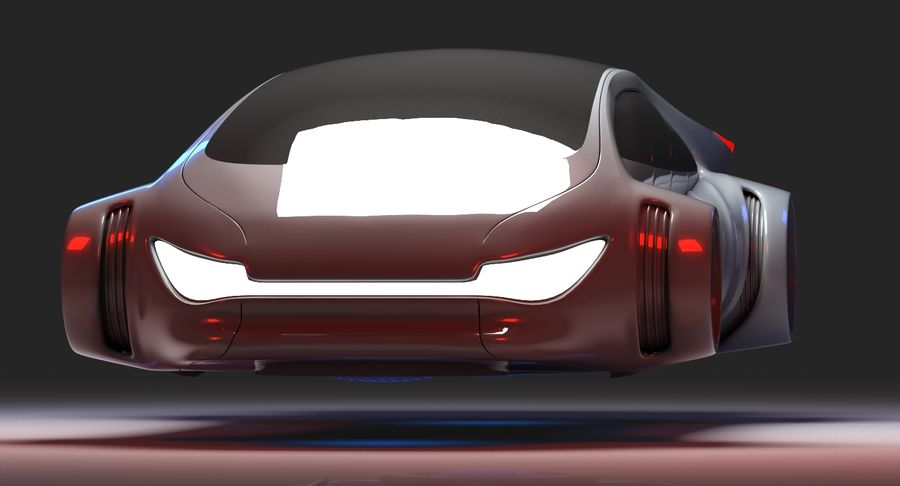 Futuristisk bil 7 royalty-free 3d model - Preview no. 2