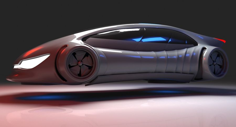 Futuristisches Auto 7 royalty-free 3d model - Preview no. 5