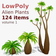 LowPoly Alien Plants Pack (124 items) 3d model