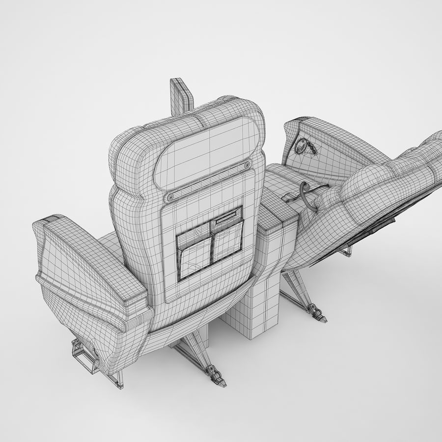 头等舱飞机座椅12 royalty-free 3d model - Preview no. 10