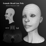 인간 여성 머리 낮은 폴리베이스 메쉬 3d model