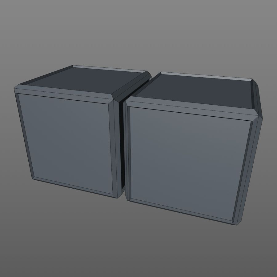 Container Boxes royalty-free 3d model - Preview no. 8