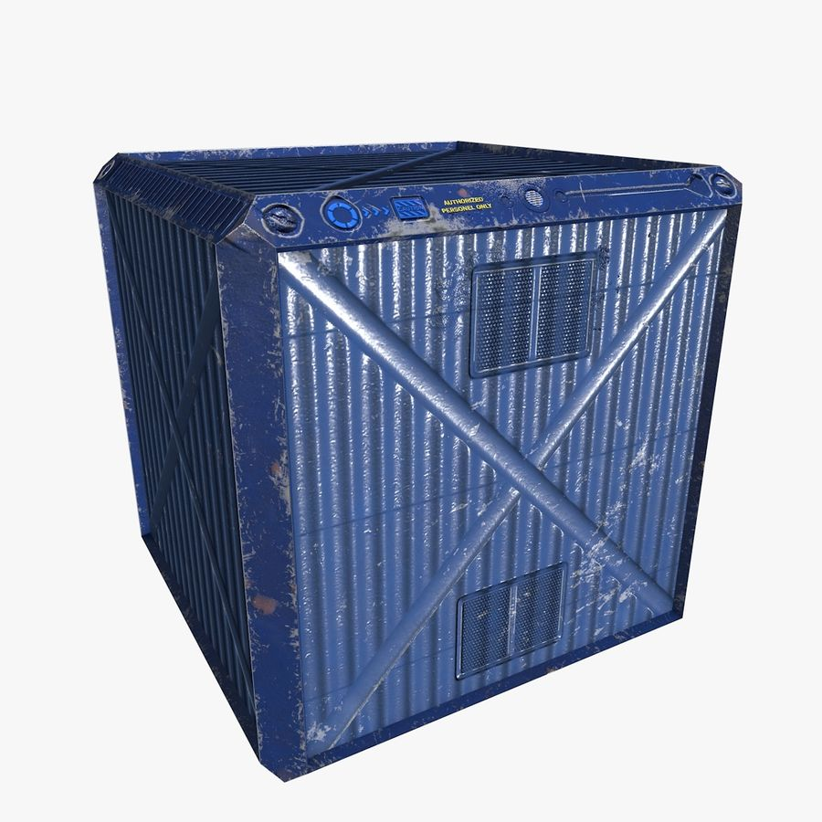 Container Boxes royalty-free 3d model - Preview no. 1