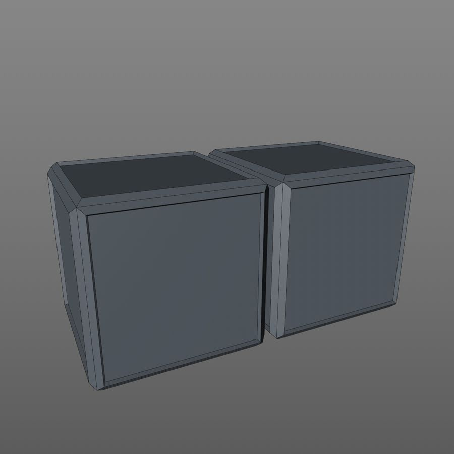 Container Boxes royalty-free 3d model - Preview no. 10
