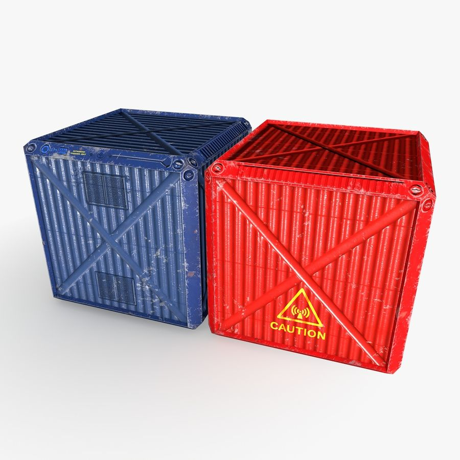 Container Boxes royalty-free 3d model - Preview no. 7