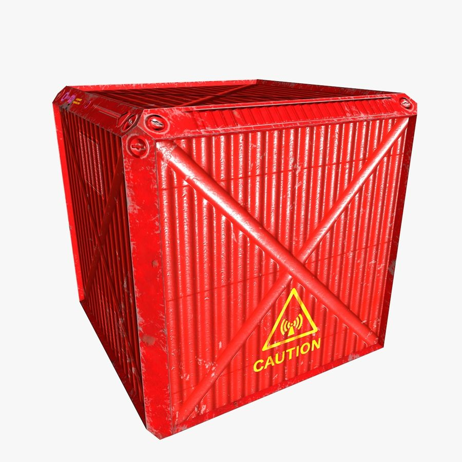 Container Boxes royalty-free 3d model - Preview no. 2