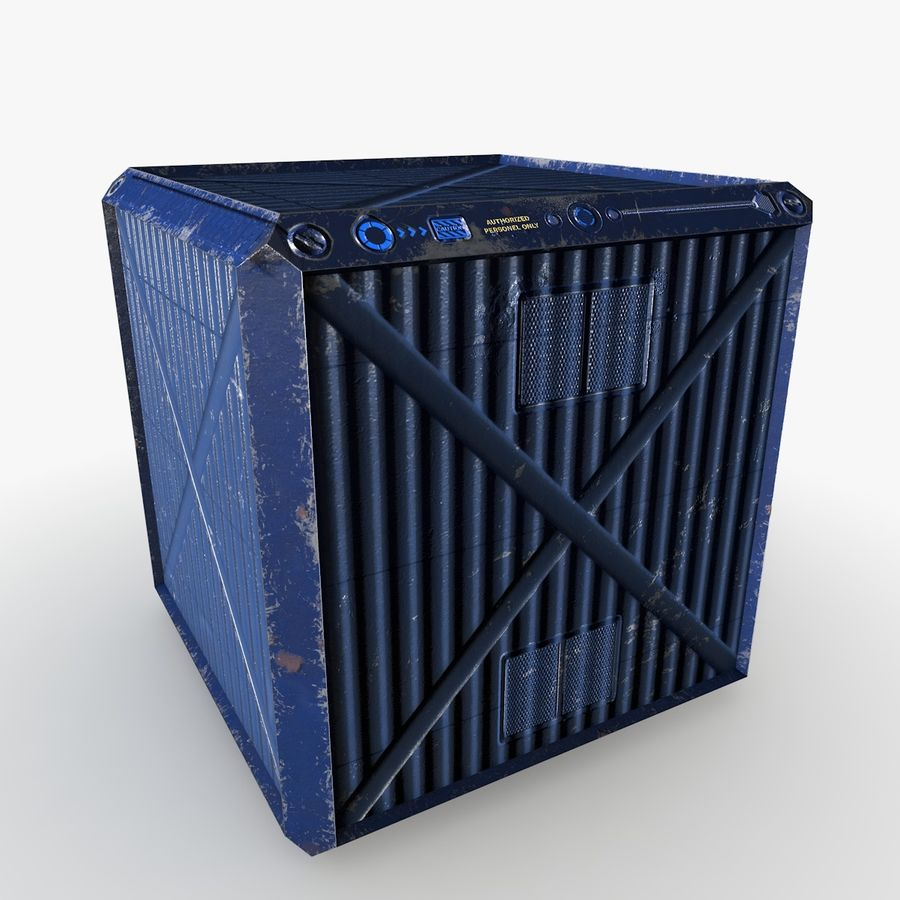 Container Boxes royalty-free 3d model - Preview no. 3