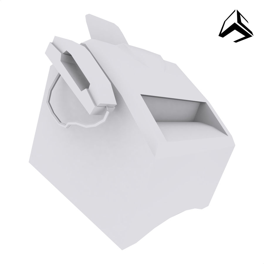 drukarka royalty-free 3d model - Preview no. 1
