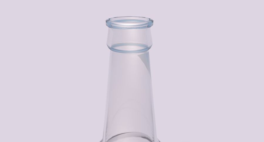 bouteille en verre royalty-free 3d model - Preview no. 4