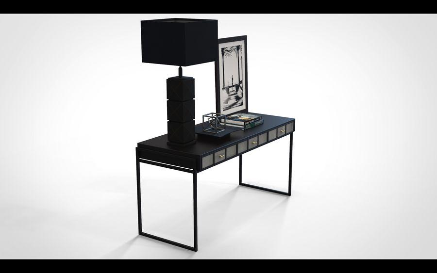 Bureau avec objets (jeu prêt) royalty-free 3d model - Preview no. 2