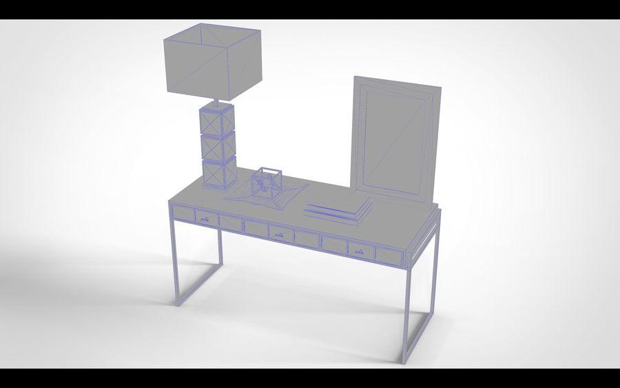 Bureau avec objets (jeu prêt) royalty-free 3d model - Preview no. 4