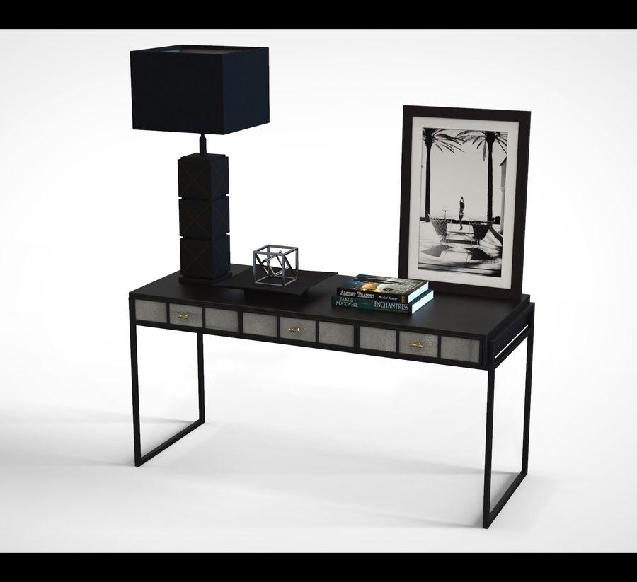 Bureau avec objets (jeu prêt) royalty-free 3d model - Preview no. 1
