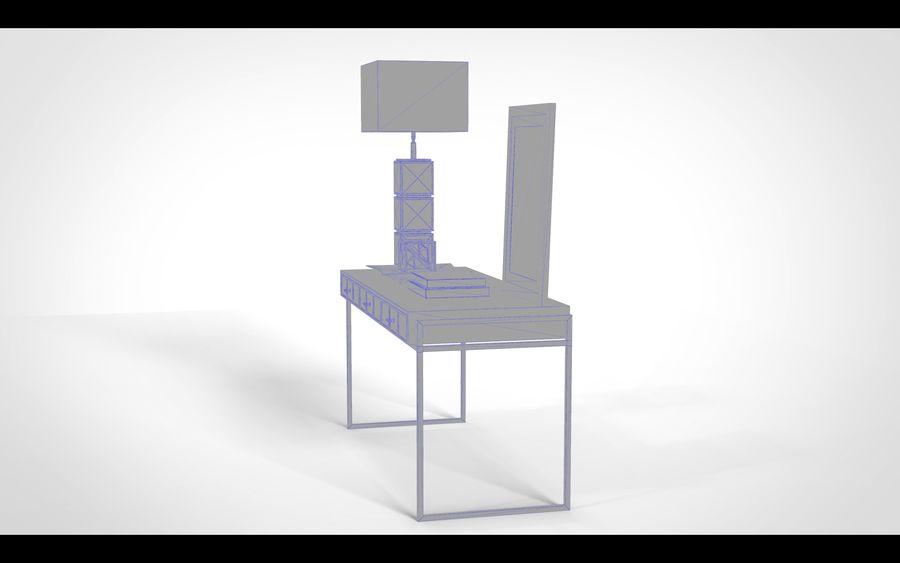 Bureau avec objets (jeu prêt) royalty-free 3d model - Preview no. 5