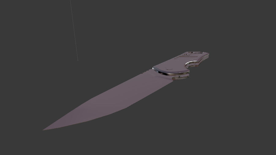 Tantale. Knife. royalty-free 3d model - Preview no. 1