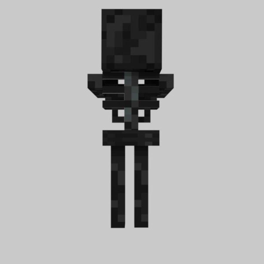 Minecraft Wither Skeleton 11D Model $11 - .obj .fbx .blend .11ds - Free11D