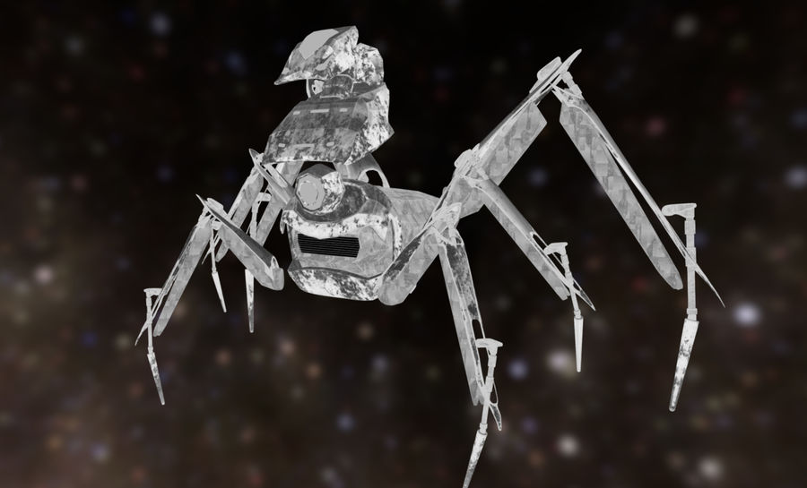 Spider Mech royalty-free 3d model - Preview no. 8