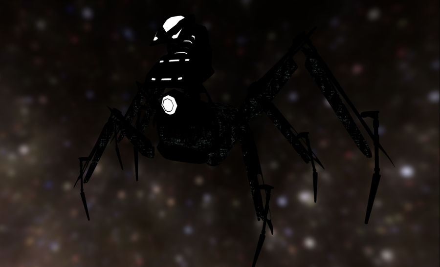 Spider Mech royalty-free 3d model - Preview no. 11