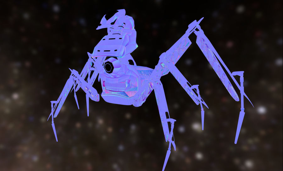 Spider Mech royalty-free 3d model - Preview no. 9