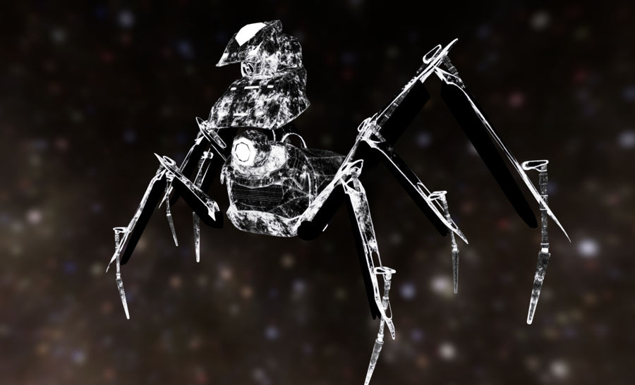 Spider Mech royalty-free 3d model - Preview no. 10