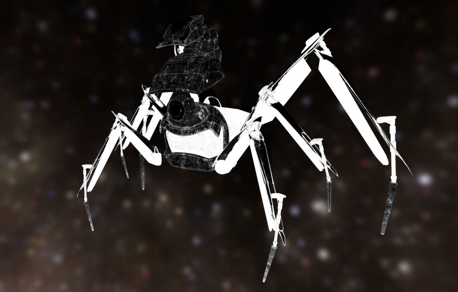 Spider Mech royalty-free 3d model - Preview no. 7