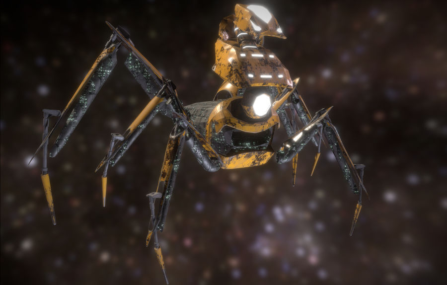 Spider Mech royalty-free 3d model - Preview no. 1