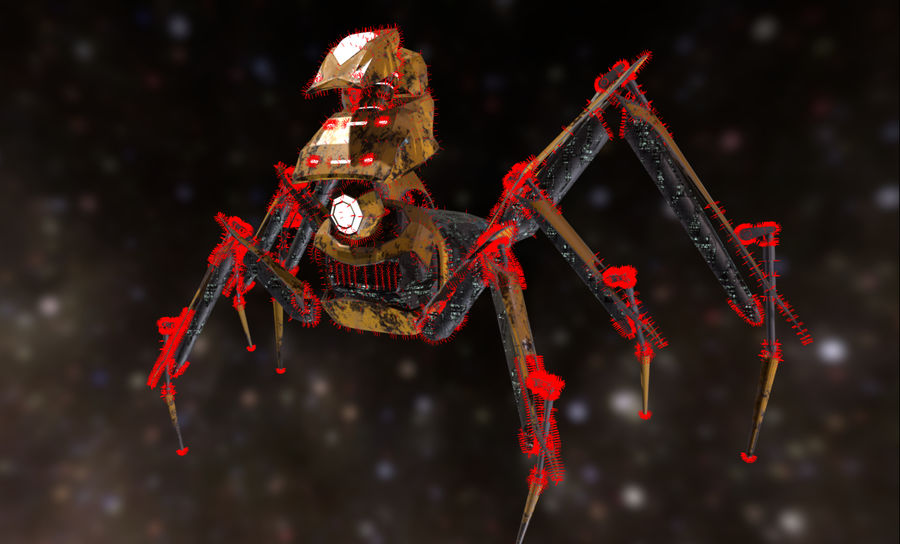 Spider Mech royalty-free 3d model - Preview no. 12