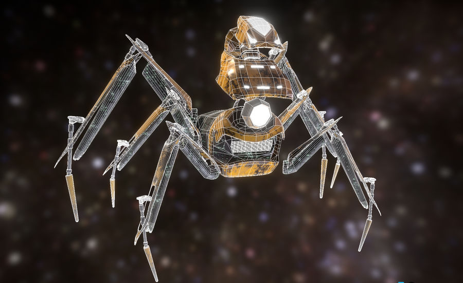 Spider Mech royalty-free 3d model - Preview no. 4