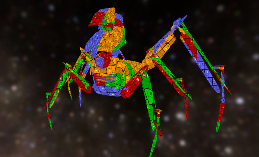 Spider Mech royalty-free 3d model - Preview no. 13