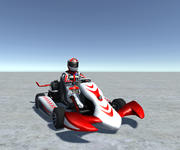 Low Poly Kart Z Graczem - 11 3d model